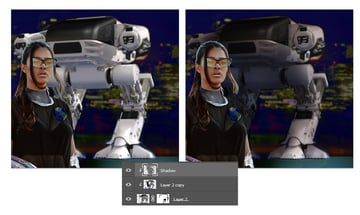Shade the robot