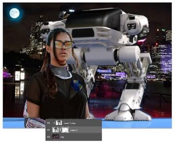 Mask the robot
