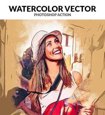 Watercolor Vector Photoshop Action