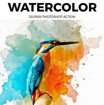 Watercolor Oil Paint Photoshop Action