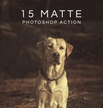 15 Matte Retro Effect Photoshop Actions