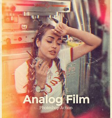 Analog Film Old Photo Effect Photoshop Action