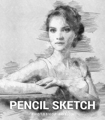 Bleistiftskizze Photoshop Aktion