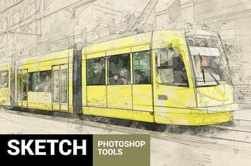 Architectum 2 - Sketch Tools Photoshop Action Photoshop
