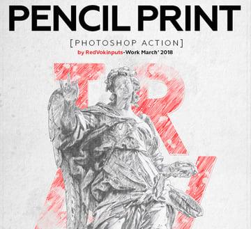 Bleistiftdruck Photoshop Aktion