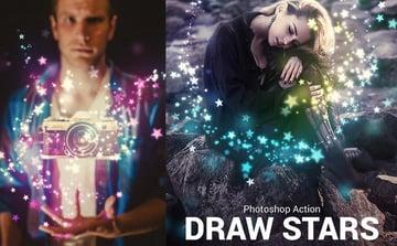 Draw Stars Photoshop Action