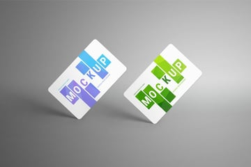 Floating Gift or Bank Cards Mockup