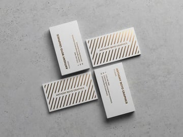 Business Cards Showcasing Mockup
