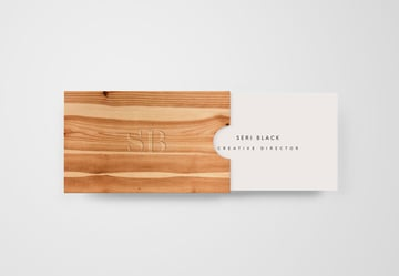 Wooden Box Business Card Mockup