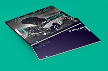 Horizontal A4 Magazine Catalog Mockup
