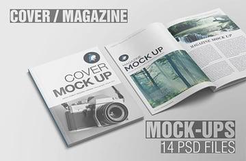 Cover  Magazine Mockup