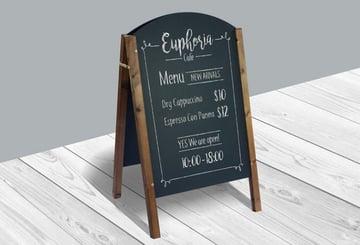 Restaurant Menu Board Mockup