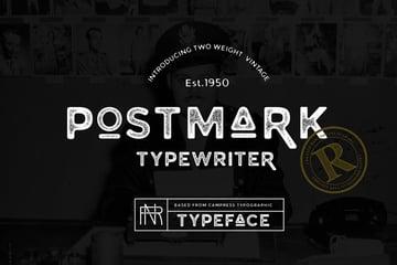 Postmark Typewriter Font
