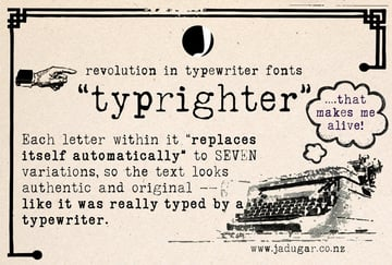Typrighter Typeface