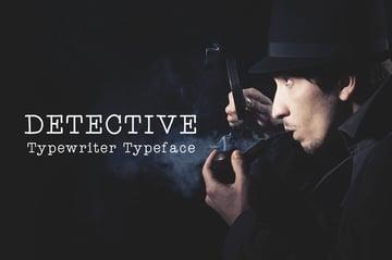 Detective - Typewriter Font