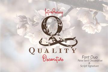 Quality Decorative Font Duo