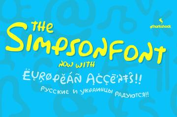 Simpson Font