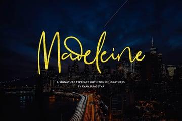 Madeleine Signature Font