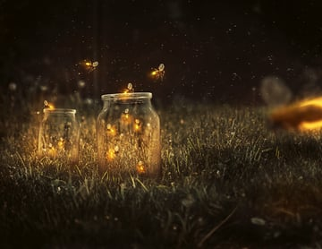 Fireflies photo manipulation Photoshop tutorial by Melody Nieves