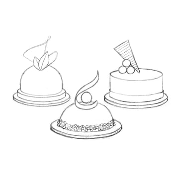 Dessert Sketches Photoshop