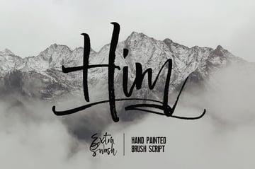 Him Handwriting Font