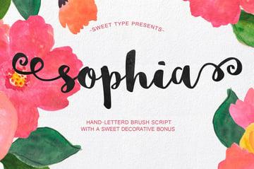 Sophia Free Handlettered Brush Script Font