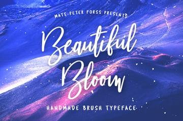 Beautiful Bloom Font