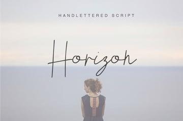 Horizon Hand Lettered Font