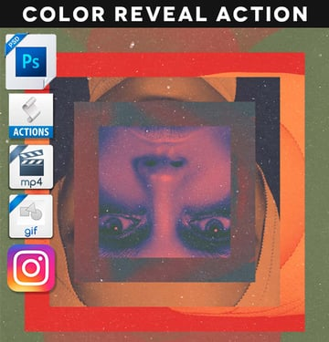 Geometric Color Reveal Action