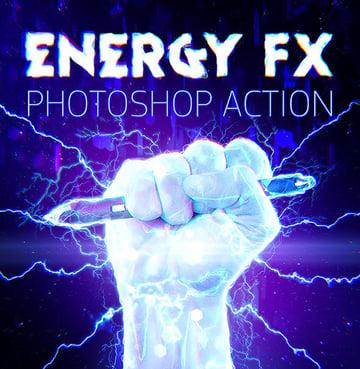 Energy FX - Electricity Photoshop Action