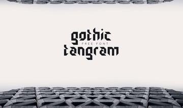 Gothic Tangram Font