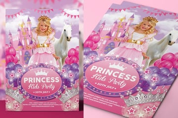 Princess Kids Party Flyer