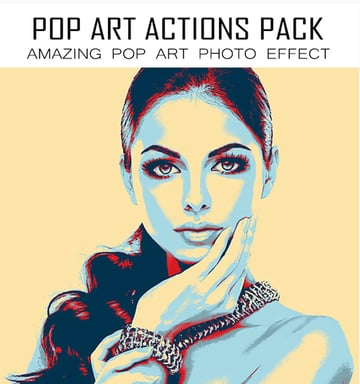 14 Pop Art Portrait Photoshop Actions