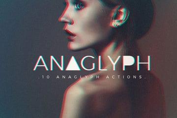 Anaglyph Portrait Photoshop Actions