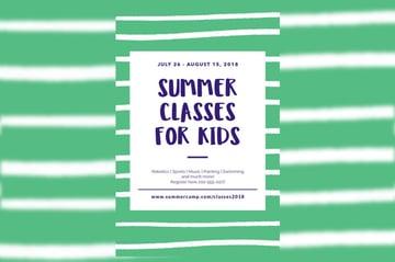 Summer Classes Flyer