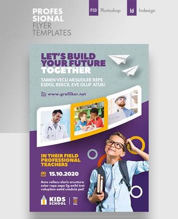 Kids School Flyer Templates