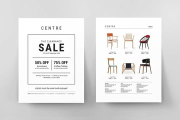The Clearance Sale Event Flyer