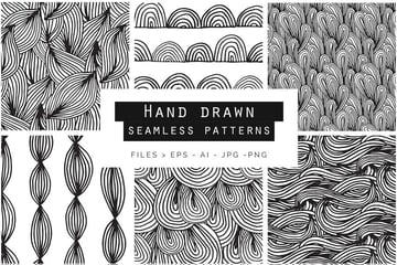 Hand Drawn Doodle Patterns