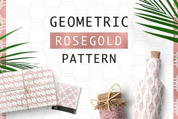 Geometric Rosegold Line Patterns