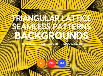 Wavy Triangular Lattice Seamless Patterns
