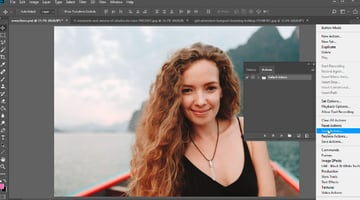 Photoshop actions how to use tutorial - Load the Photoshop action