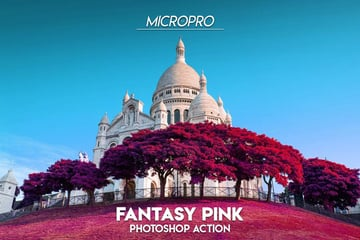 MicroPro Fantasy Pink Photoshop Action