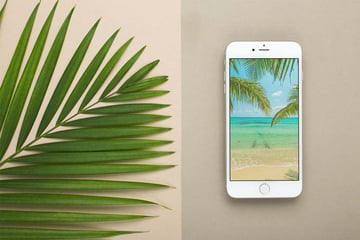 Silver iPhone Mockup Template