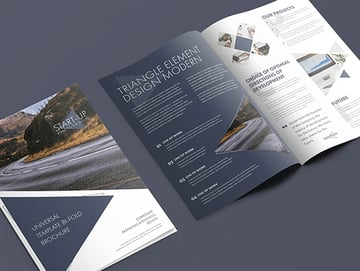 Modern Design Bi-Fold Brochure
