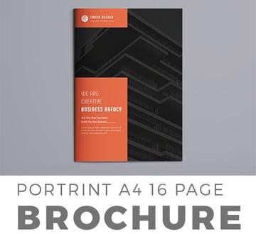 Black Brochure Template