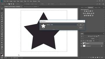 Star brush Photoshop