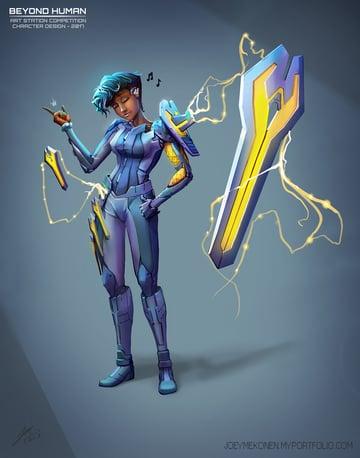 Character Design Futuristic Hero