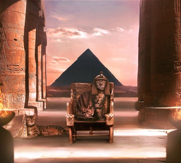 Ancient Egypt Cat Photo Manipulation Photoshop Tutorial by Melody Nieves