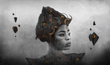 How to Create an Abstract Portrait With Rocks and Lava in Adobe Photoshop