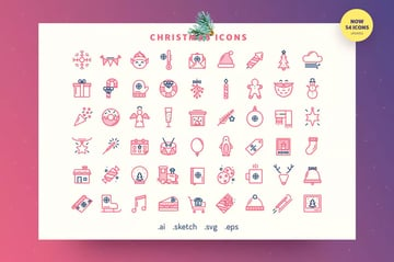 Festive - Christmas Outline Icon Set